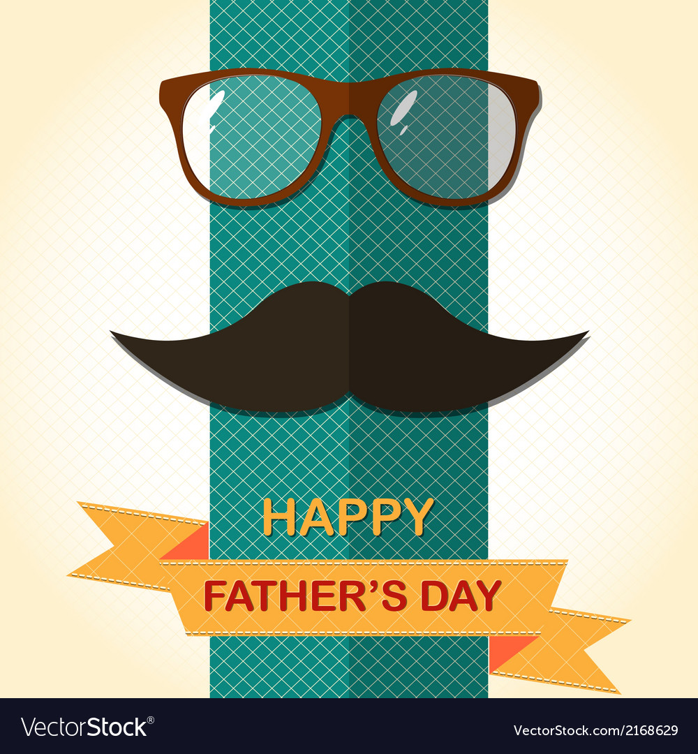 Father day card with spectacles vector | Price: 1 Credit (USD $1)