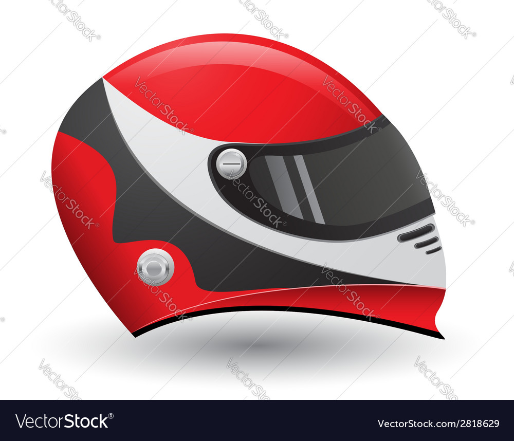 Helmet for a racer vector | Price: 1 Credit (USD $1)