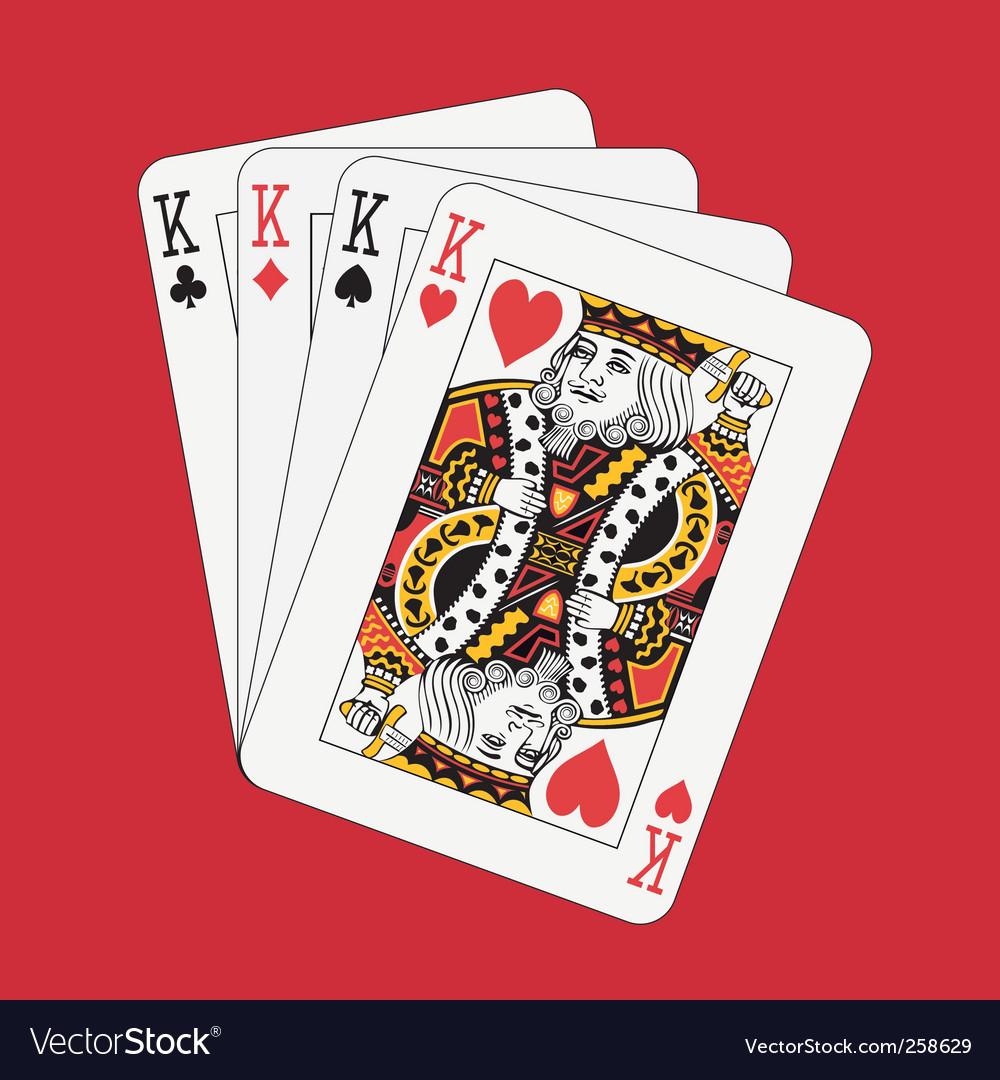 Kings poker vector | Price: 1 Credit (USD $1)