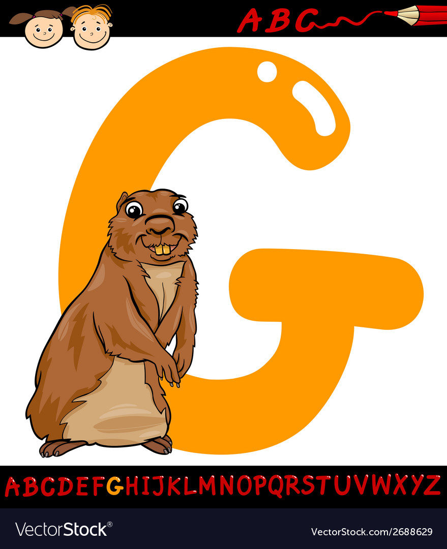 Letter g for gopher cartoon vector | Price: 1 Credit (USD $1)