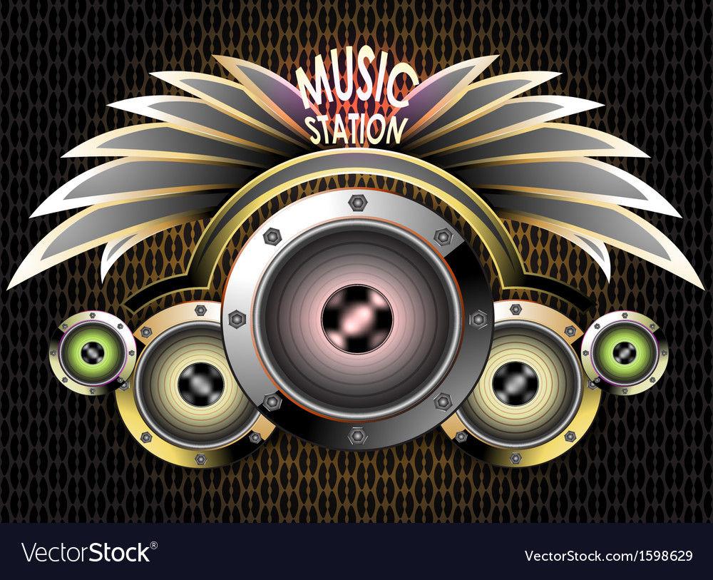 Music station vector | Price: 1 Credit (USD $1)