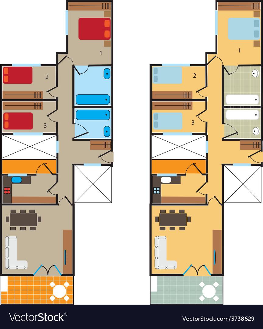 Plan scheme vector | Price: 1 Credit (USD $1)