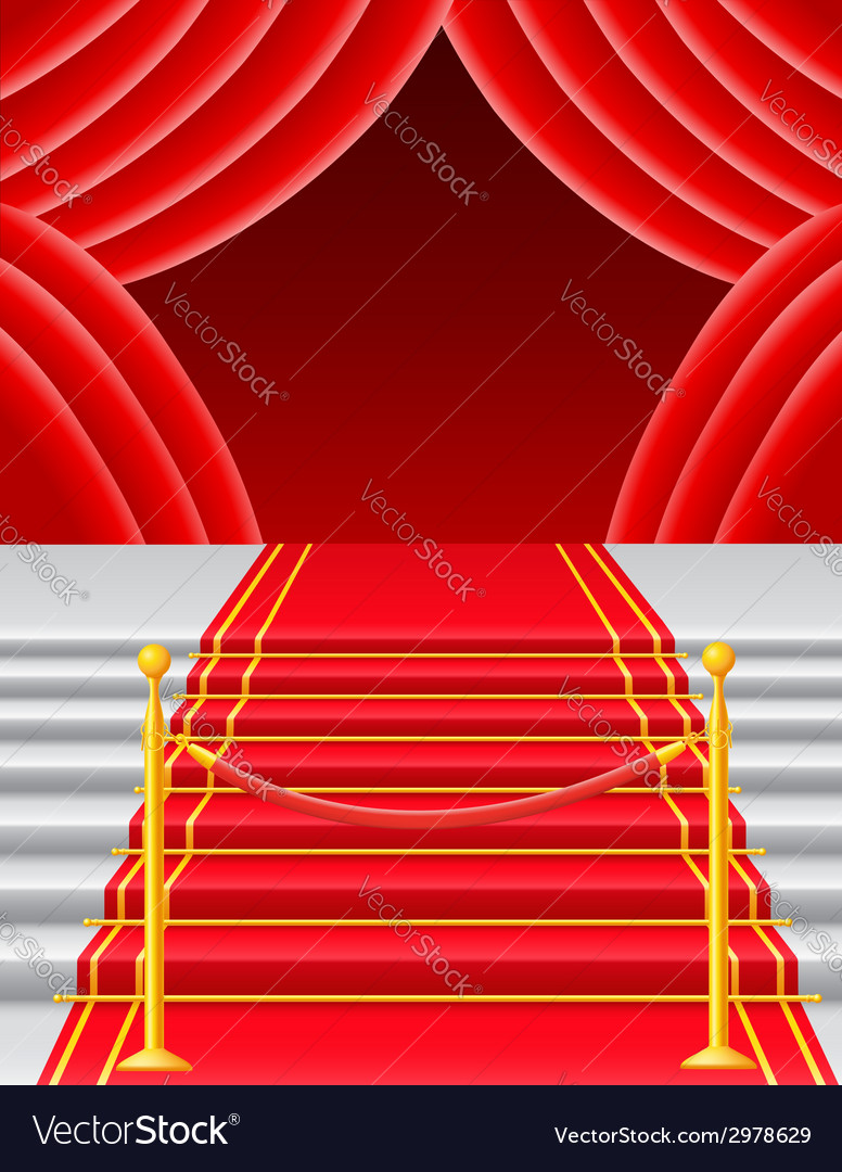 Red carpet 05 vector | Price: 1 Credit (USD $1)
