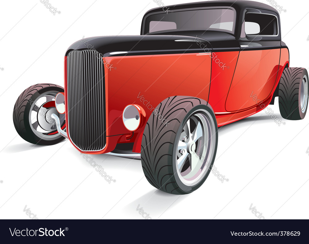 Red hot rod vector | Price: 5 Credit (USD $5)