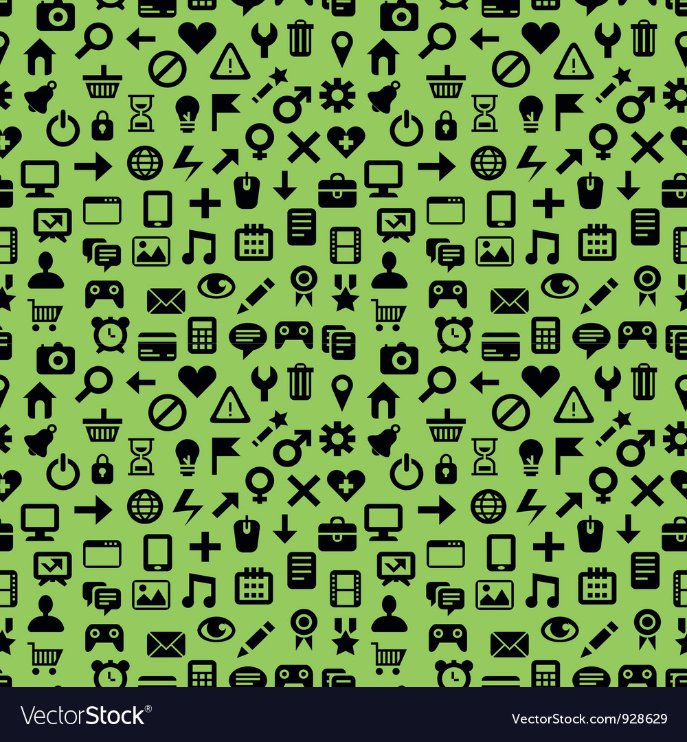 Seamless pattern with technology icons vector | Price: 1 Credit (USD $1)