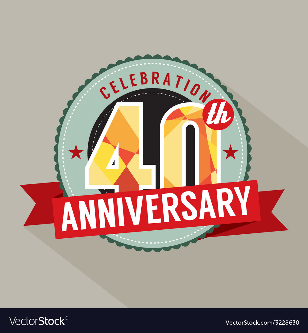 40th years anniversary celebration design vector | Price: 1 Credit (USD $1)