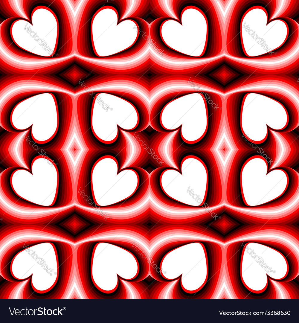 Design seamless heart pattern vector | Price: 1 Credit (USD $1)