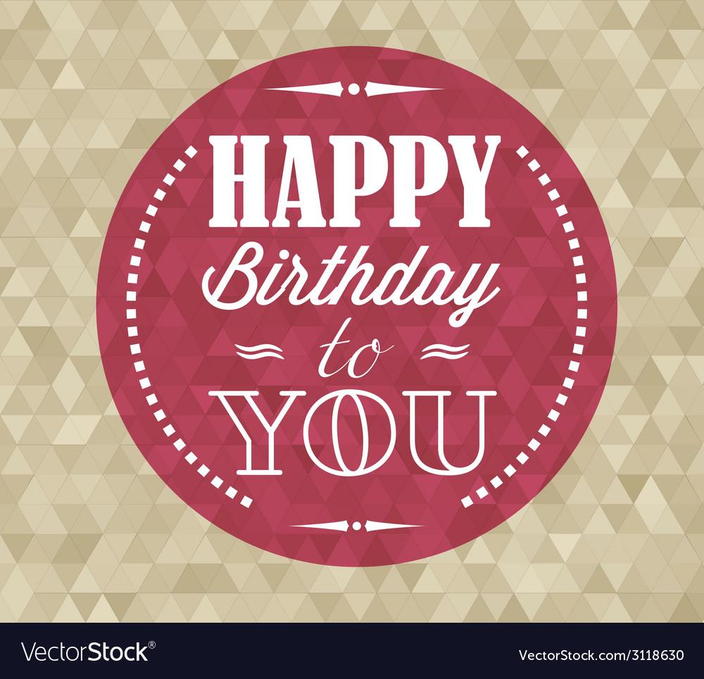 Happy birthday retro vector | Price: 1 Credit (USD $1)