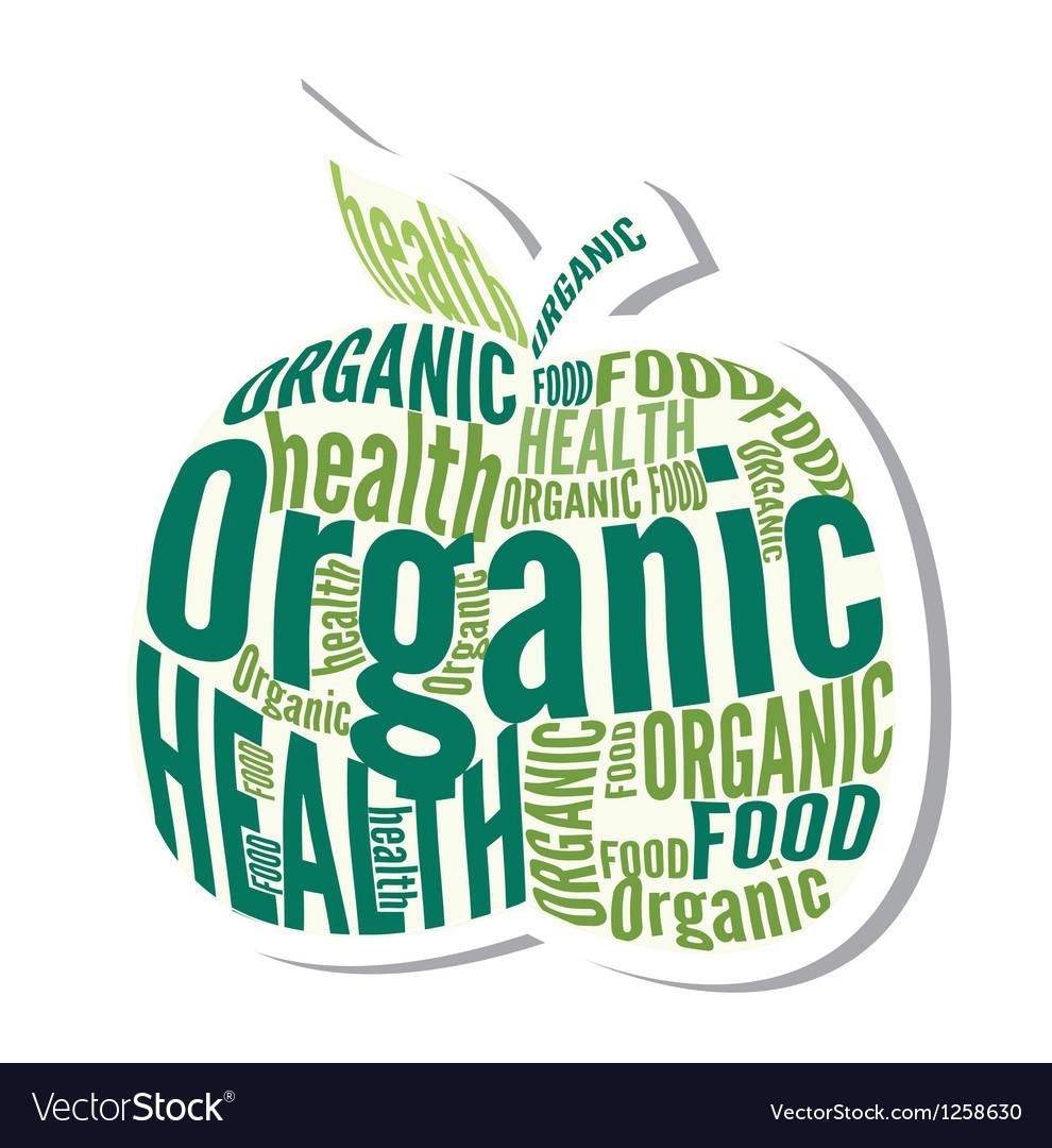 Organic apple design label vector   Price: 1 Credit (USD $1)