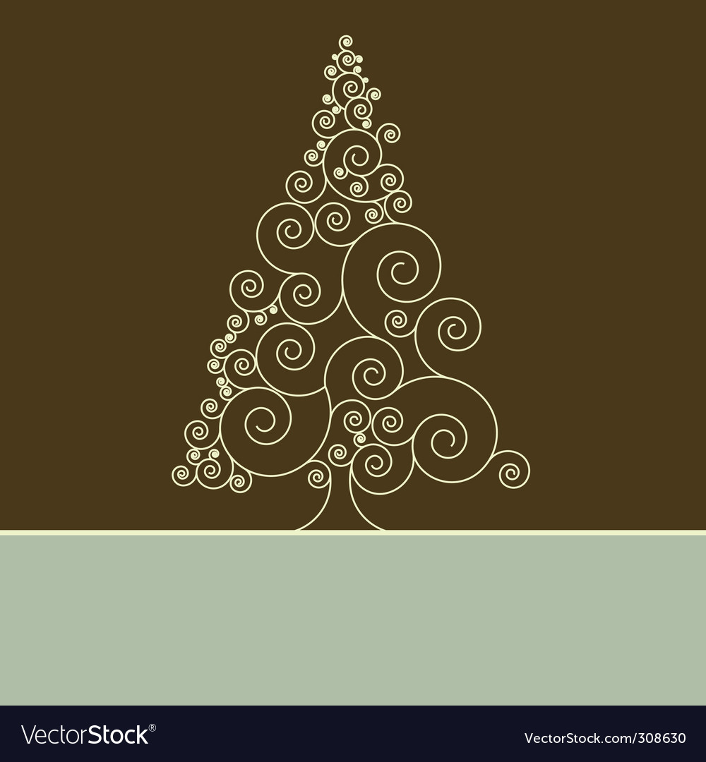 Retro christmas card template vector | Price: 1 Credit (USD $1)