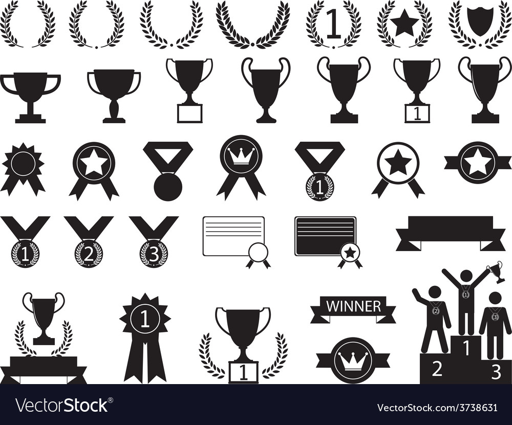Award symbols vector | Price: 1 Credit (USD $1)