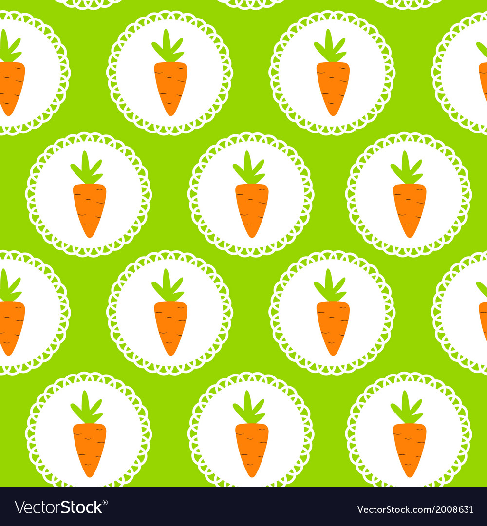 Carrot seamless pattern background vector | Price: 1 Credit (USD $1)