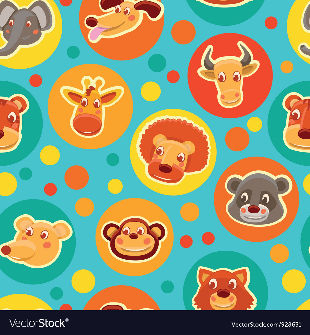 Cartoon animal heads vector | Price: 3 Credit (USD $3)