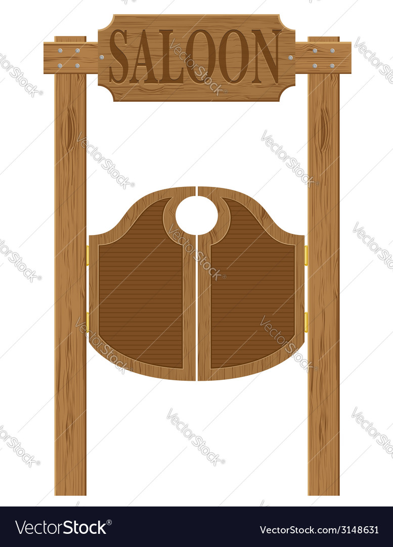 Doors in western saloon 01 vector | Price: 1 Credit (USD $1)