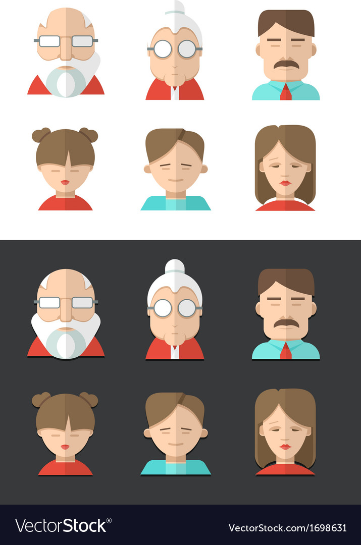 Family icons vector | Price: 1 Credit (USD $1)
