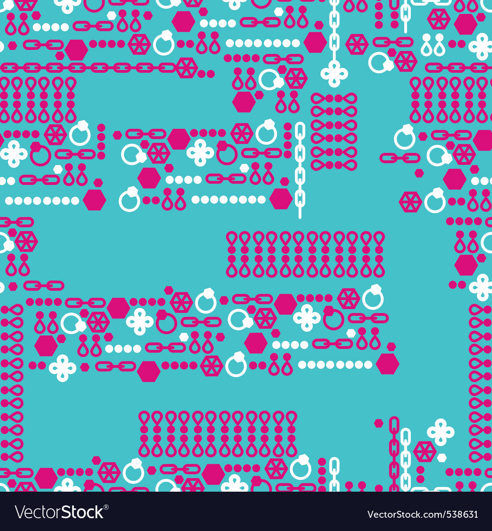 Fashion jewelry pattern vector | Price: 1 Credit (USD $1)