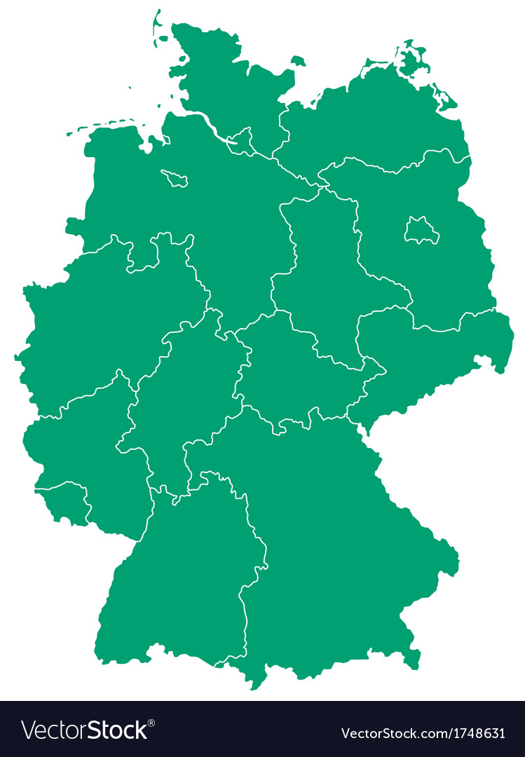 Map of germany vector   Price: 1 Credit (USD $1)