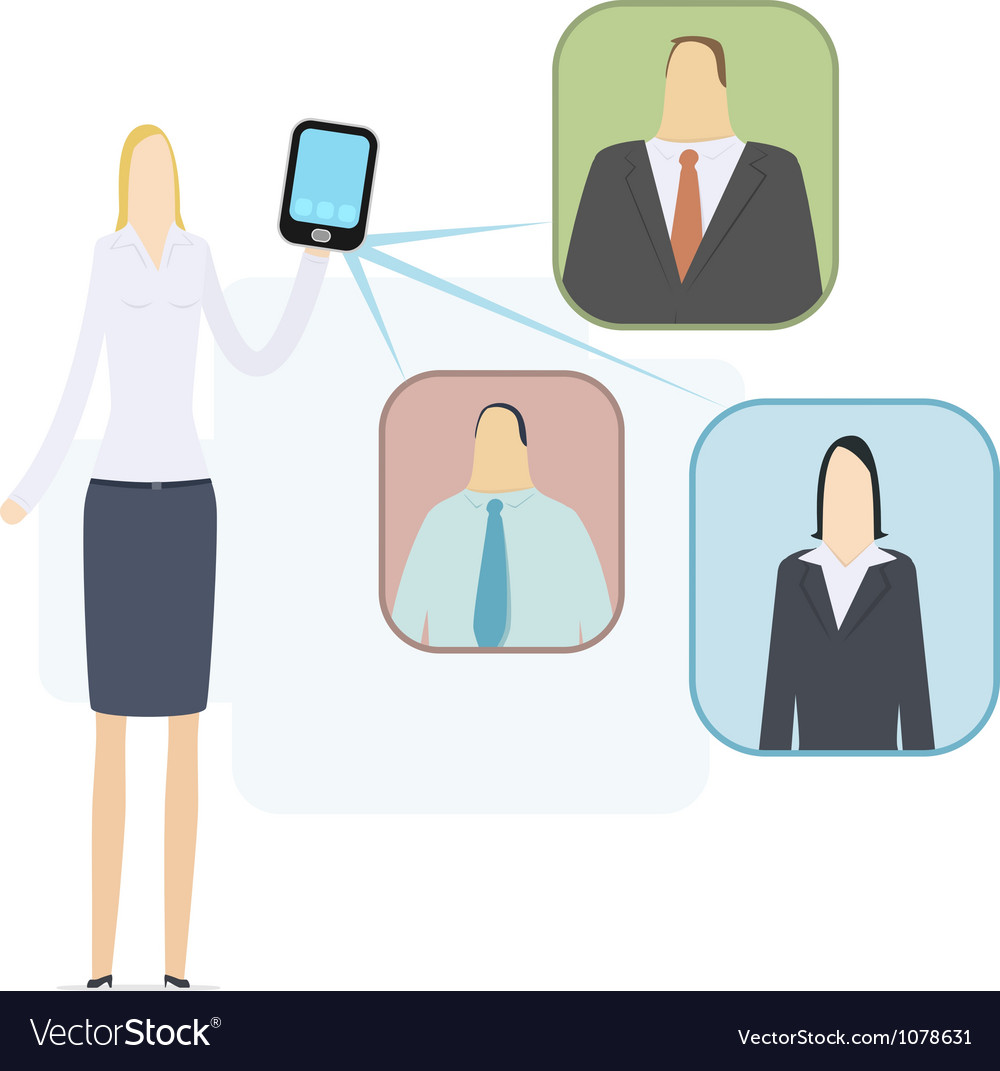 Mobile video conference vector | Price: 3 Credit (USD $3)