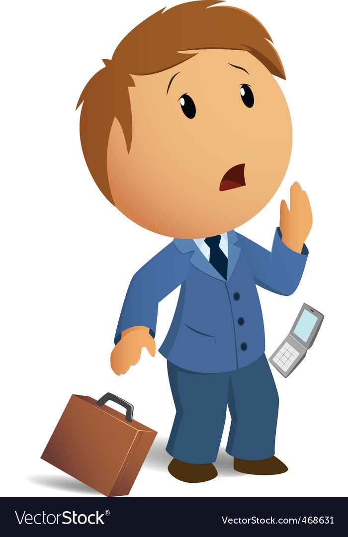 Shocked businessman with throw case vector | Price: 1 Credit (USD $1)