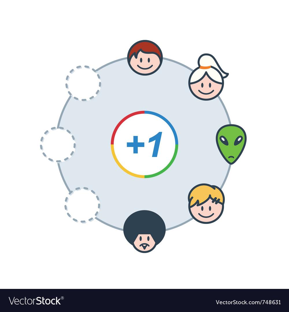 Social circle vector | Price: 1 Credit (USD $1)