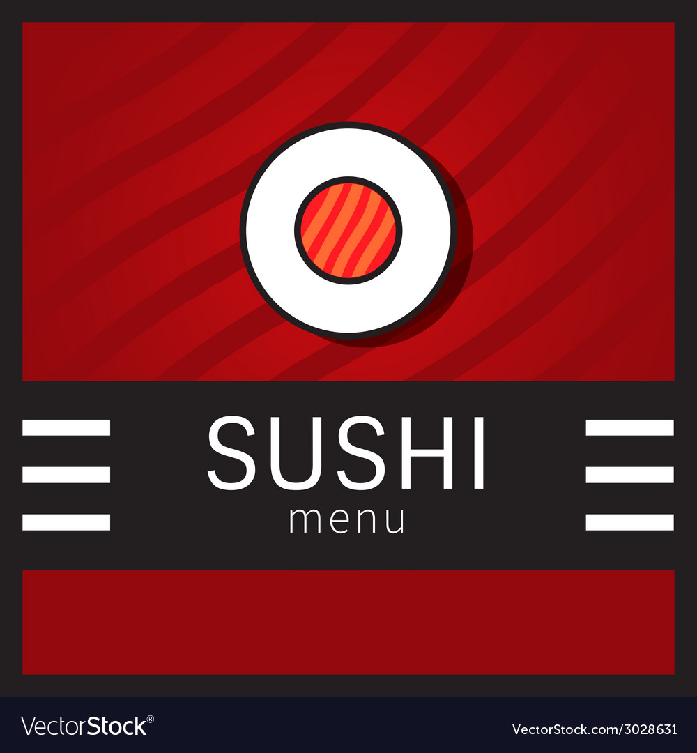 Sushi menu vector   Price: 1 Credit (USD $1)