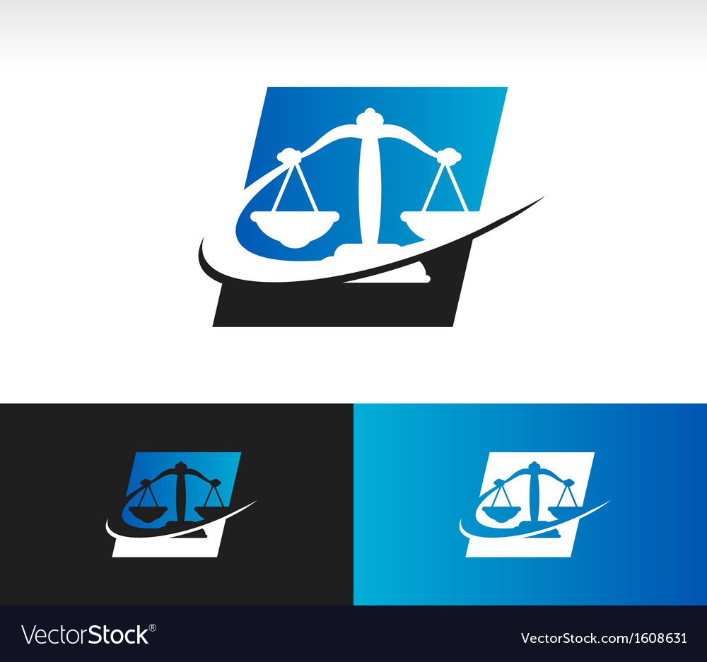 Swoosh balance scale logo icon vector | Price: 1 Credit (USD $1)