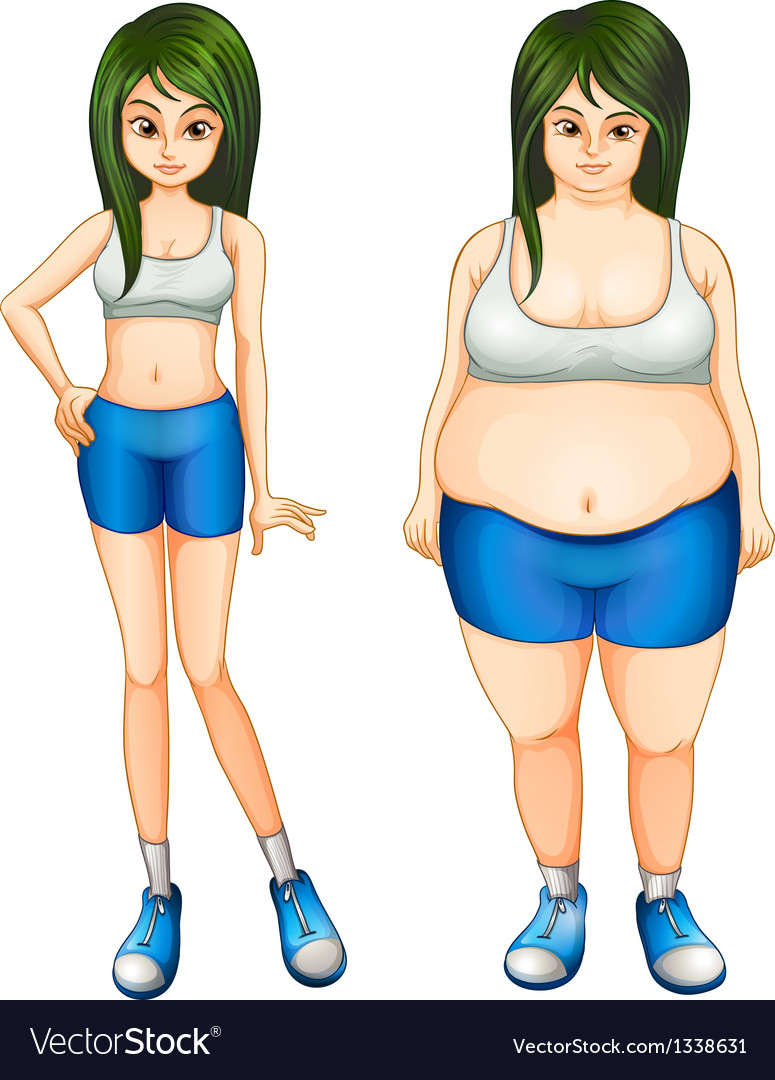 Transformation of a girls body vector | Price: 1 Credit (USD $1)
