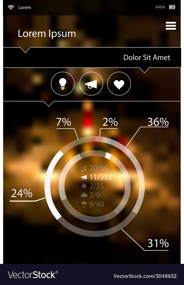 Abstract infographics template on blurred bright vector | Price: 1 Credit (USD $1)