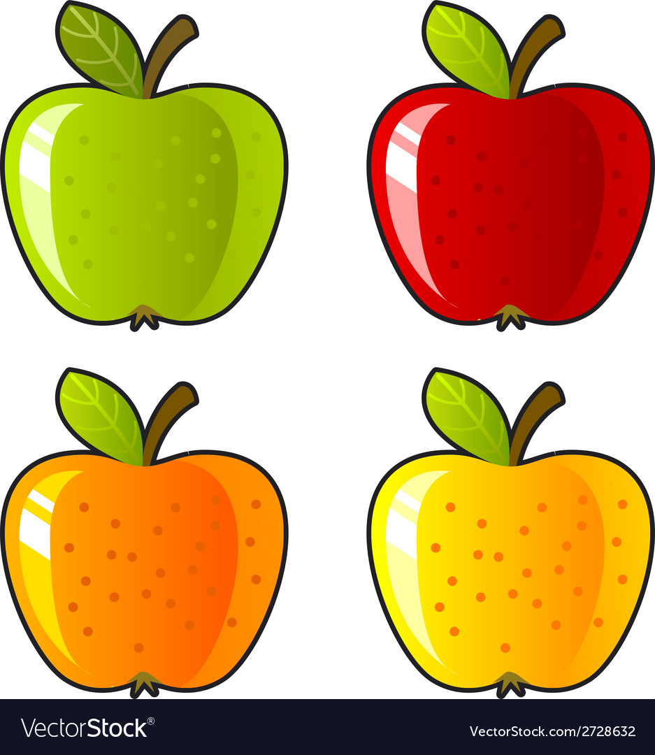 Aloneapple background bright color dessert diet vector | Price: 1 Credit (USD $1)