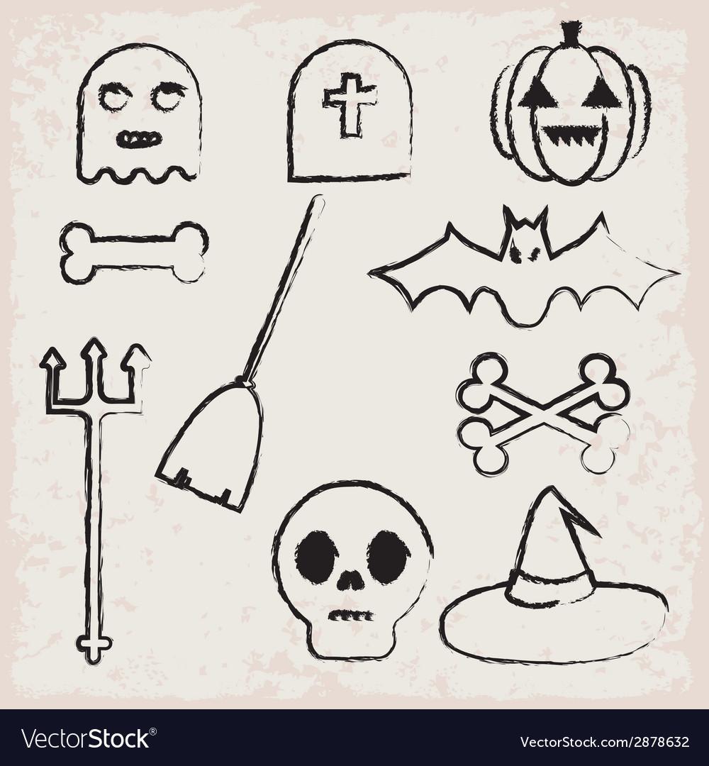 Halloween icons vector   Price: 1 Credit (USD $1)
