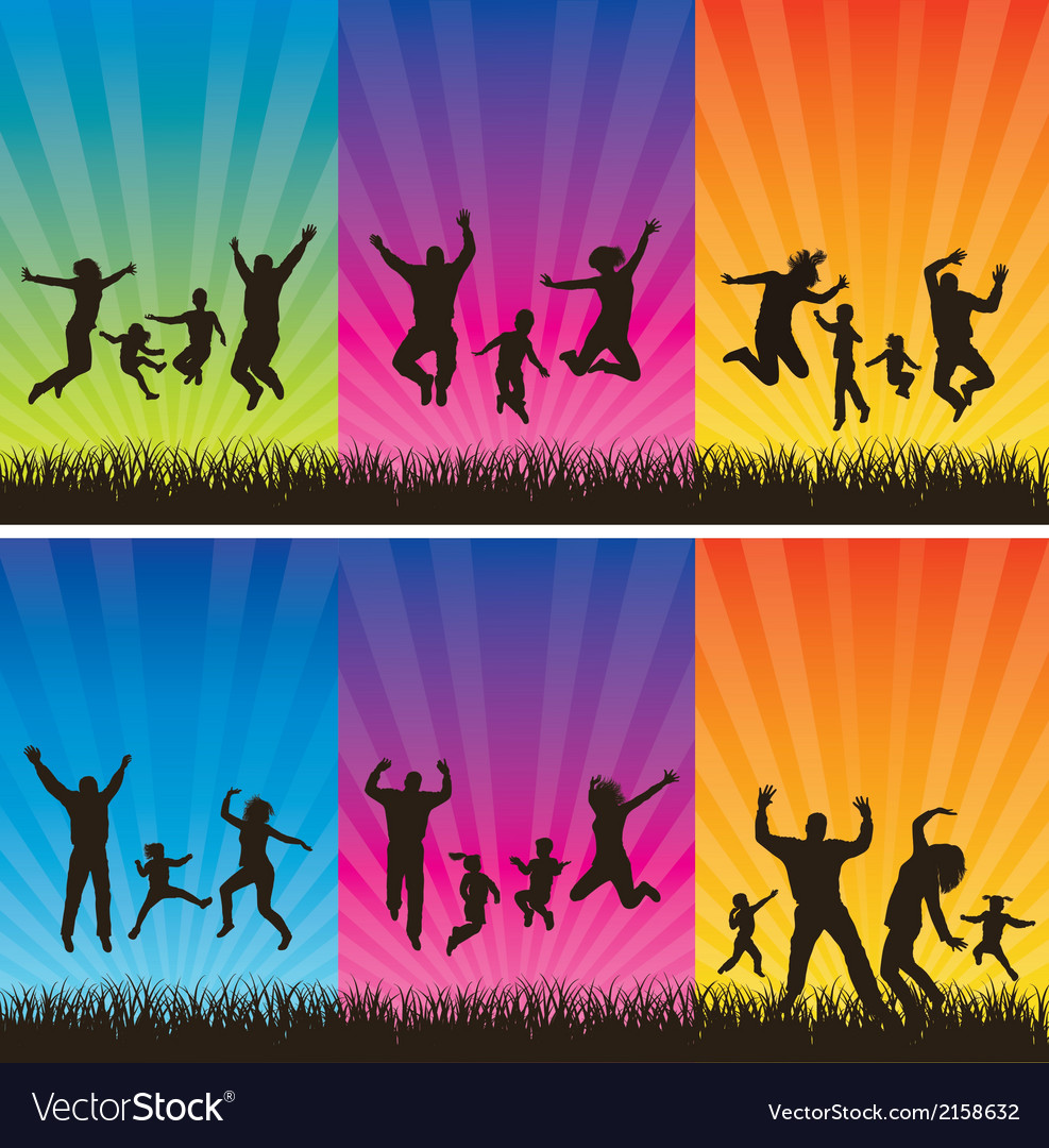 Happy family conceptual backgrounds vector   Price: 1 Credit (USD $1)