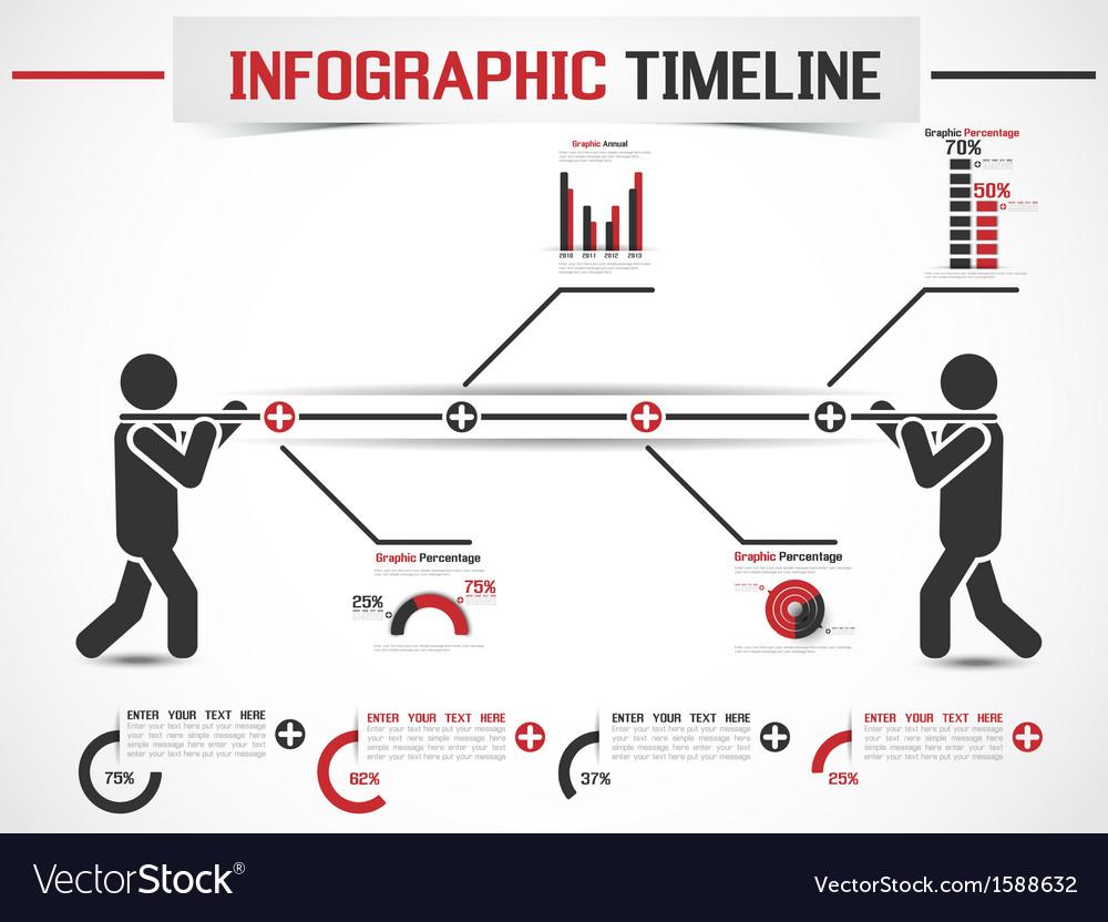 Infographic modern timeline man vector | Price: 1 Credit (USD $1)