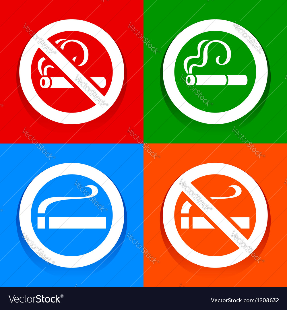 No smoking area - stickers vector | Price: 1 Credit (USD $1)