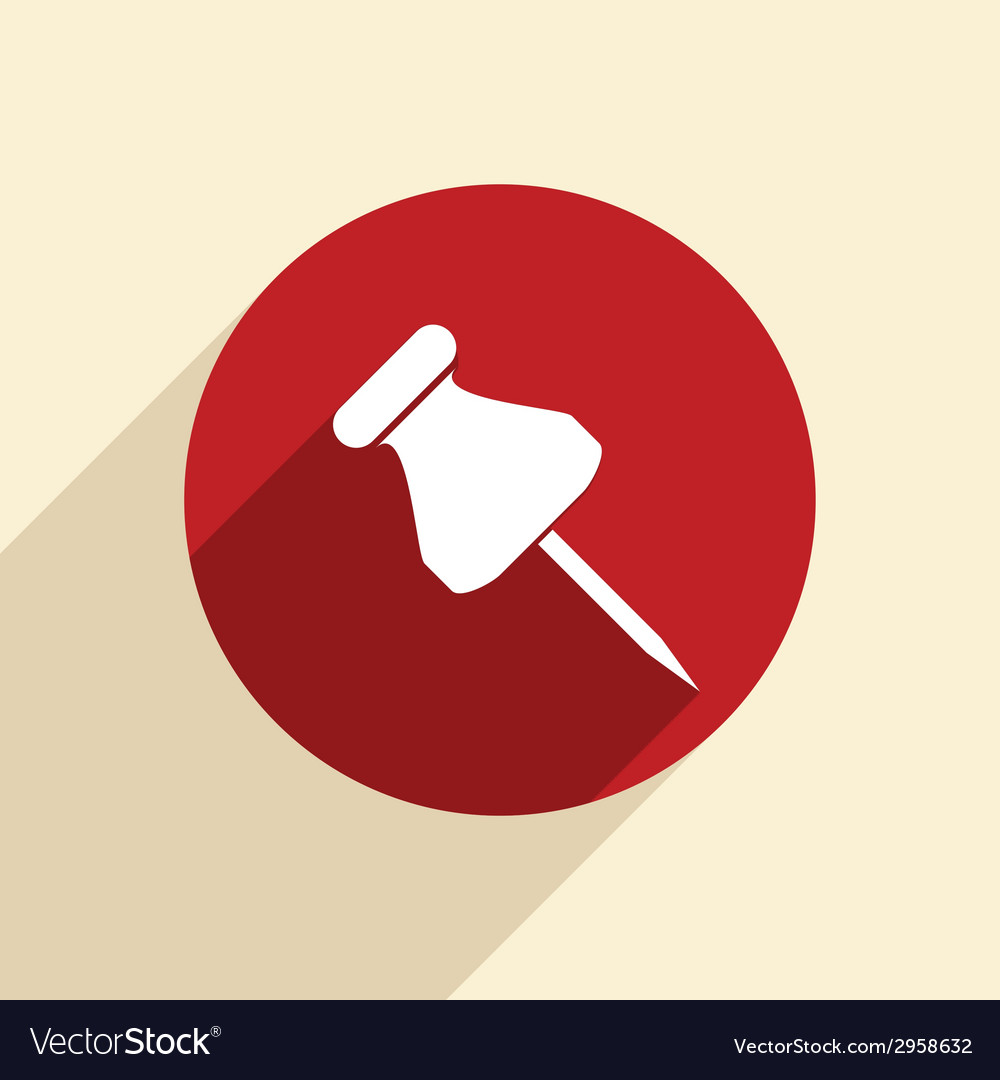 Pin for papers vector | Price: 1 Credit (USD $1)