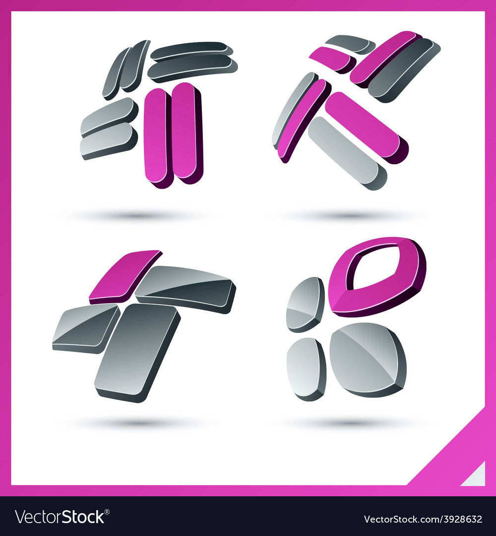Pink company signs vector | Price: 1 Credit (USD $1)