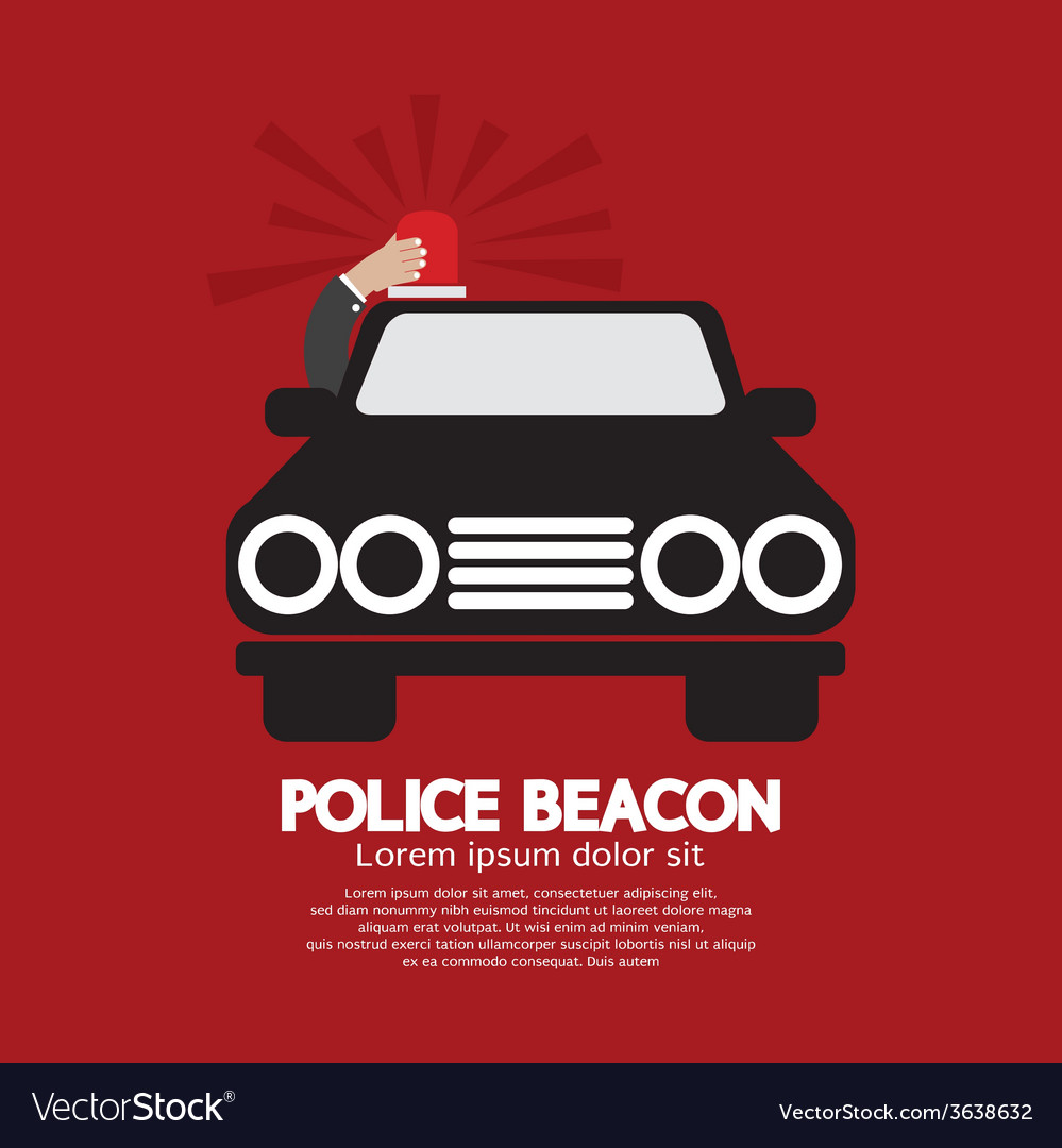 Police beacon at cars roof vector | Price: 1 Credit (USD $1)