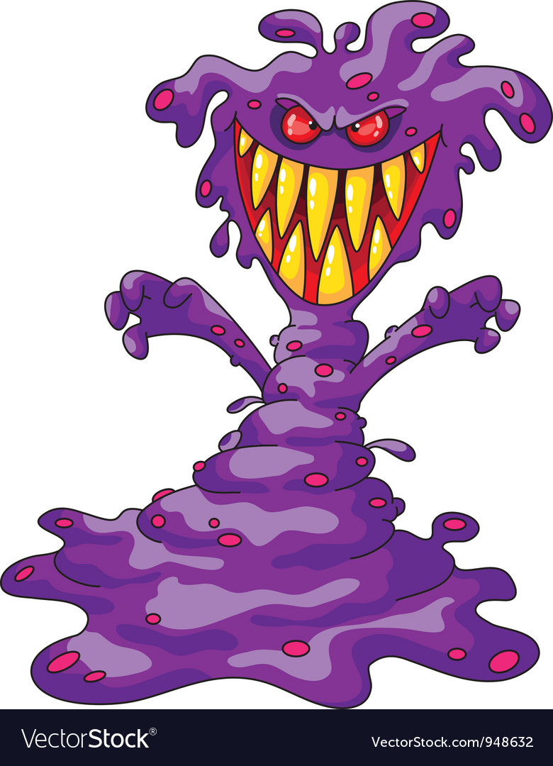 Scary violet monster vector | Price: 3 Credit (USD $3)