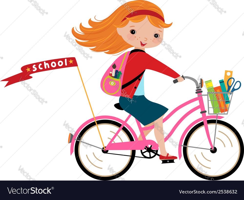 Schoolgirl vector | Price: 1 Credit (USD $1)