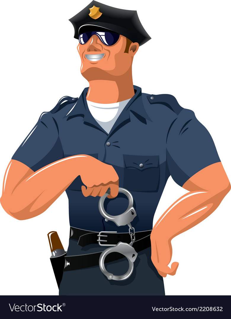 Smiling policeman vector | Price: 1 Credit (USD $1)