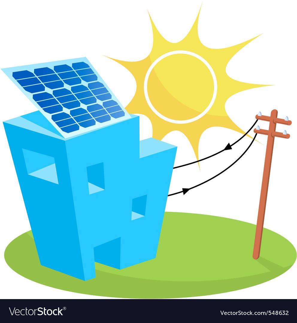 Solar house vector   Price: 1 Credit (USD $1)