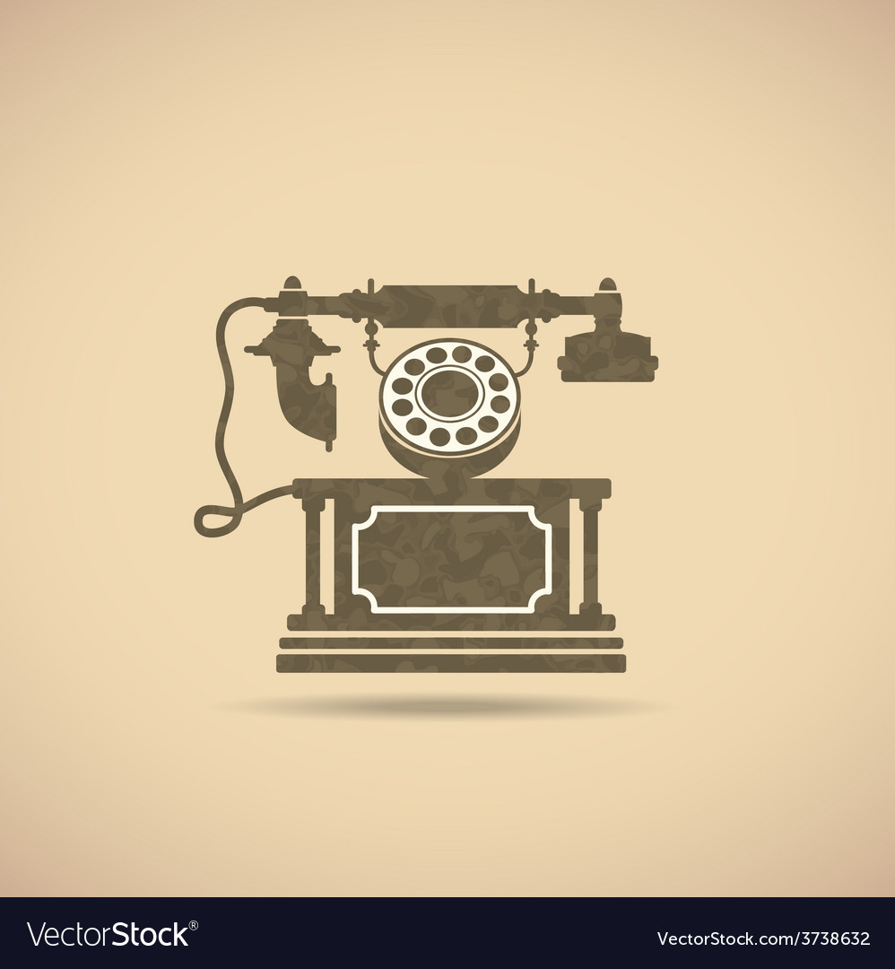 Vintage phone vector | Price: 1 Credit (USD $1)