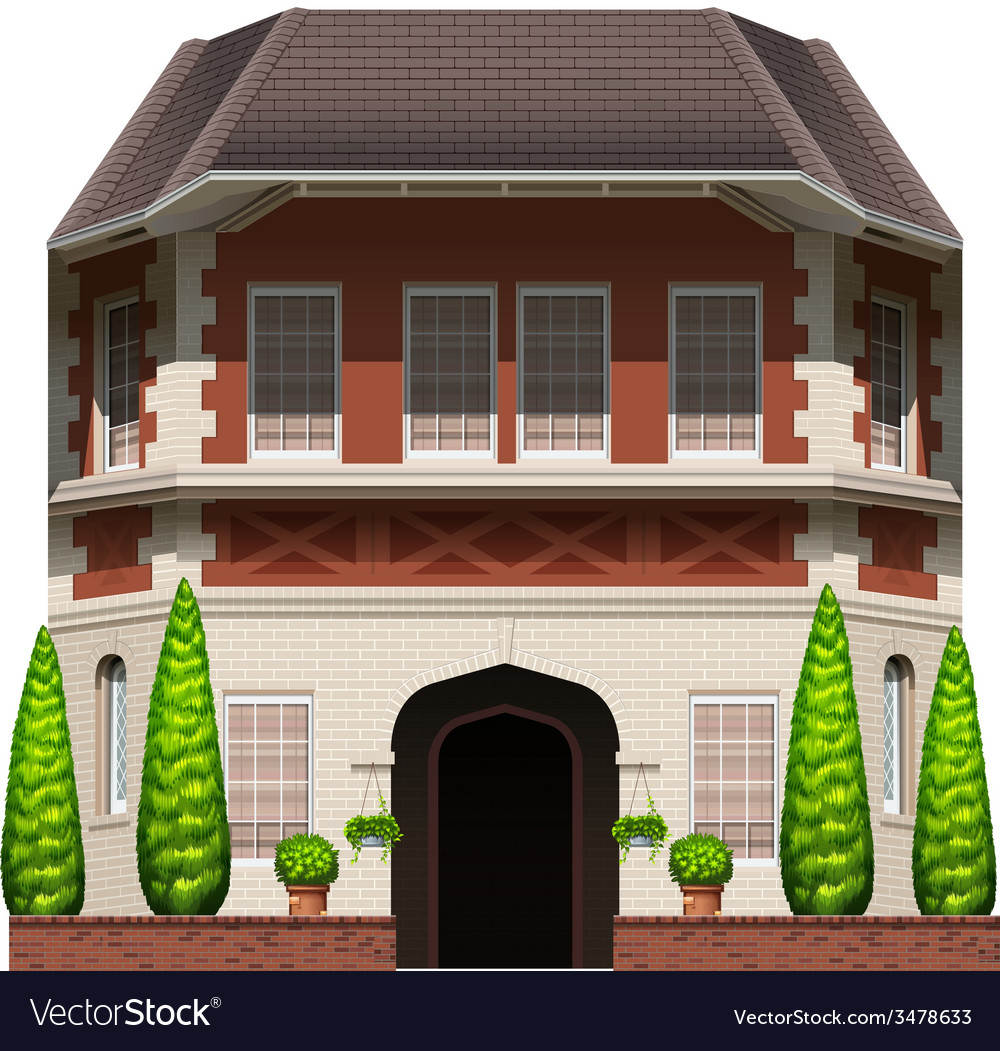 An old commercial building vector | Price: 3 Credit (USD $3)