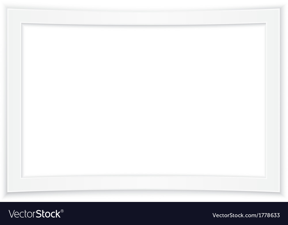 Blank white photo frame vector | Price: 1 Credit (USD $1)
