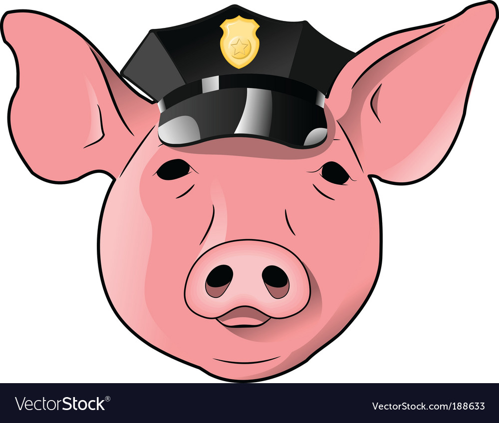 Cop pig vector | Price: 1 Credit (USD $1)