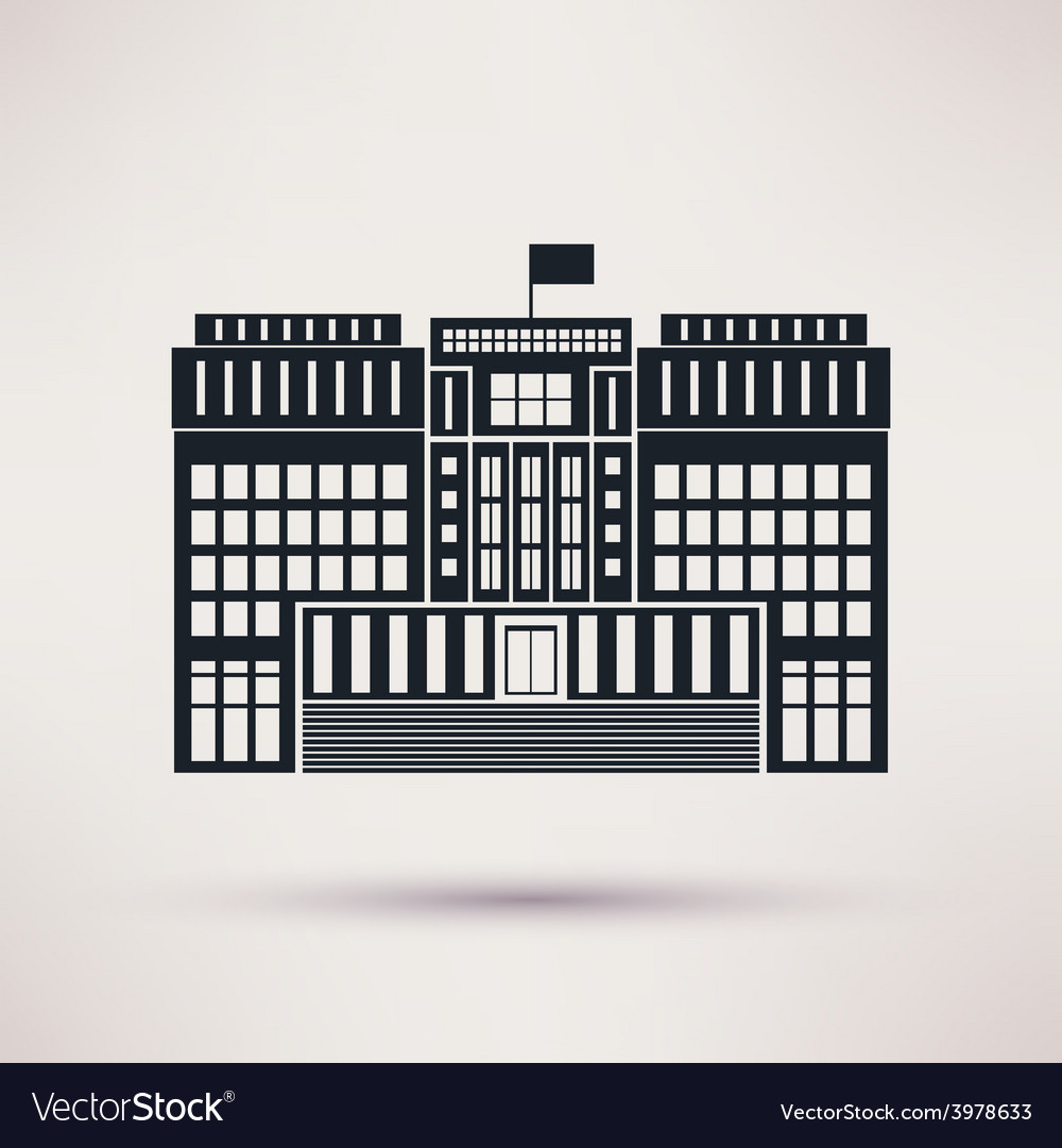 Courthouse icons in a flat style vector | Price: 1 Credit (USD $1)
