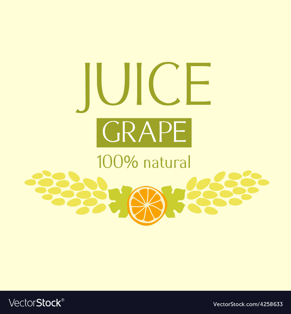 Editable label template or logo for fruit juice vector | Price: 1 Credit (USD $1)