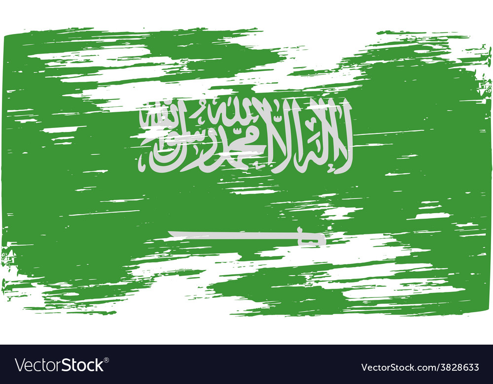 Flag of saudi arabia with old texture vector | Price: 1 Credit (USD $1)
