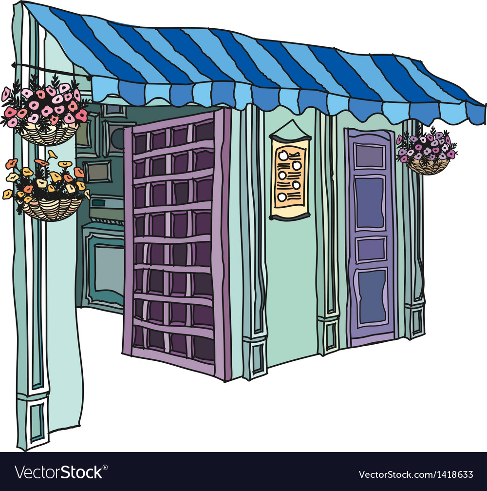 Florist shop vector | Price: 1 Credit (USD $1)