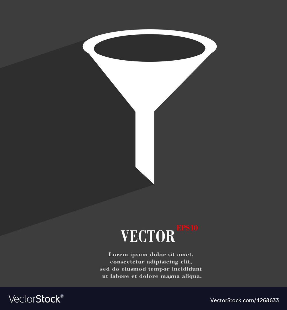 Funnel icon symbol flat modern web design with vector | Price: 1 Credit (USD $1)