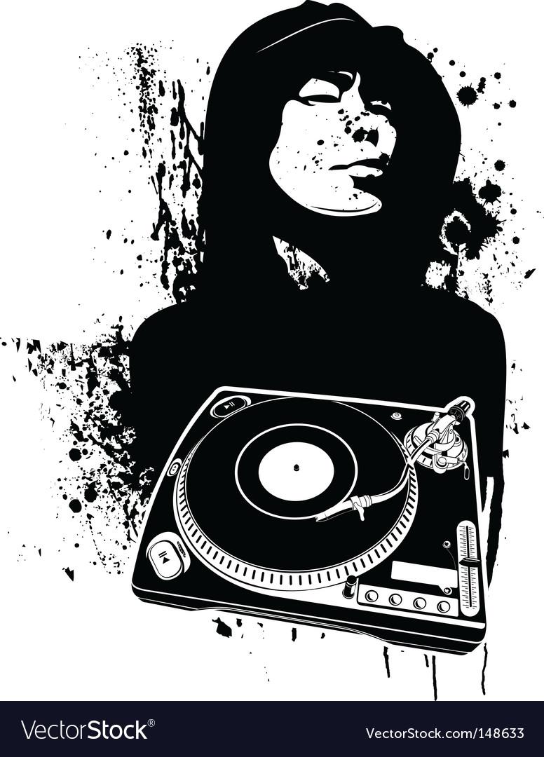 Graffiti dj background vector | Price: 1 Credit (USD $1)